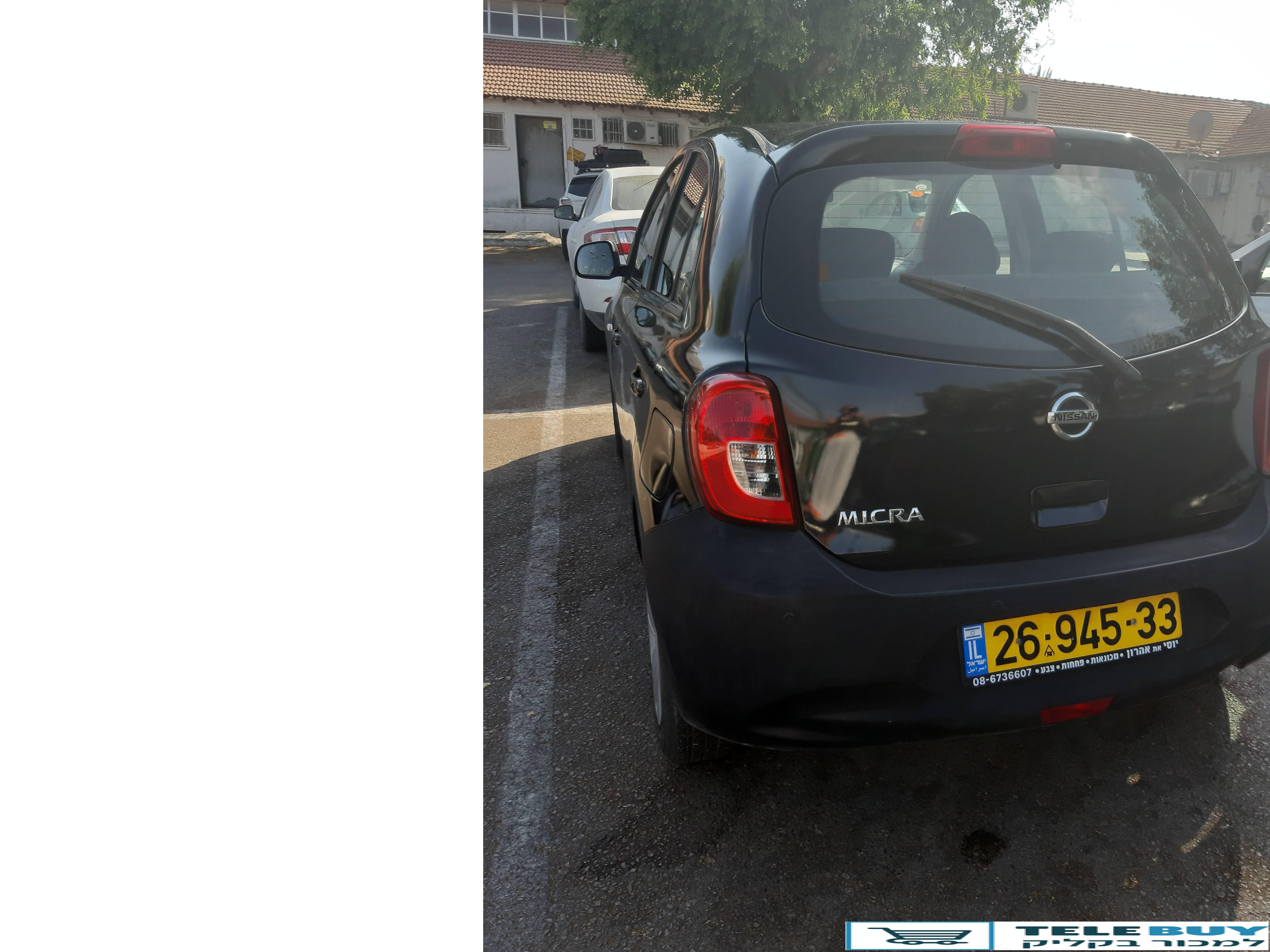 רכב פרטי ניסאן מיקרה באשדוד ואשקלון