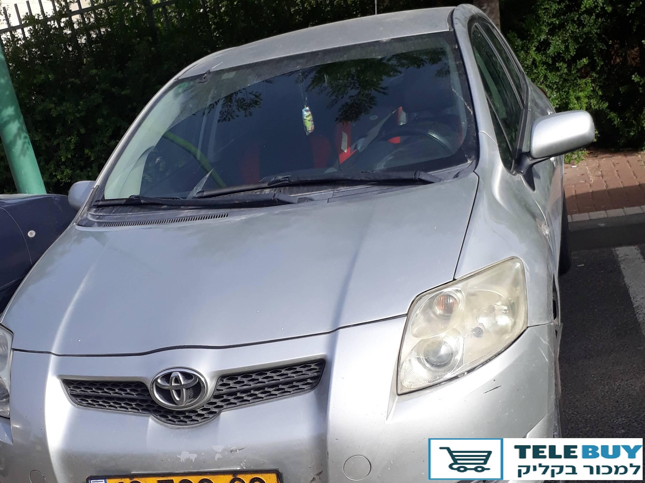 רכב פרטי טויוטה אוריס  בקריות
